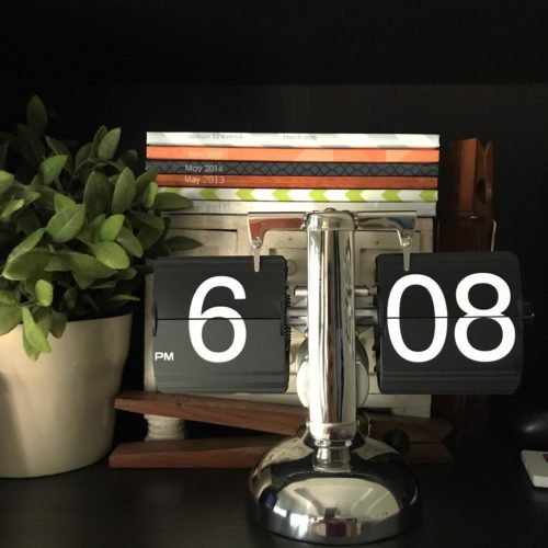 Retro Stainless Flip Clock photo review